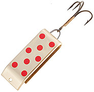 Brass with Red Dots Spin-a-lure