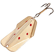 Gold with Red Dots Wobbler Lure